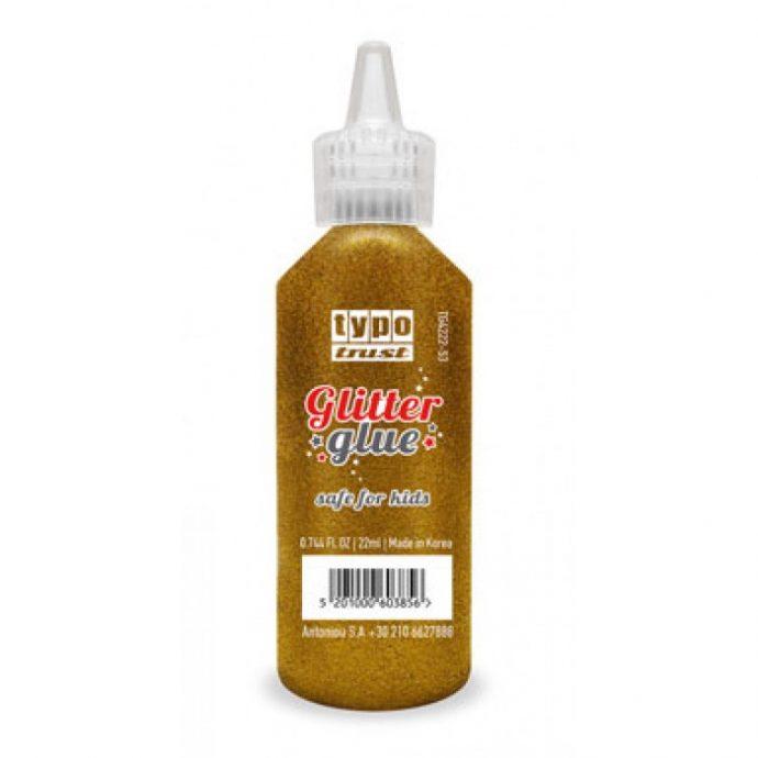 Κόλλα Typo trust Glitter Metallic 22 ml. (χρυσό - ασημί)