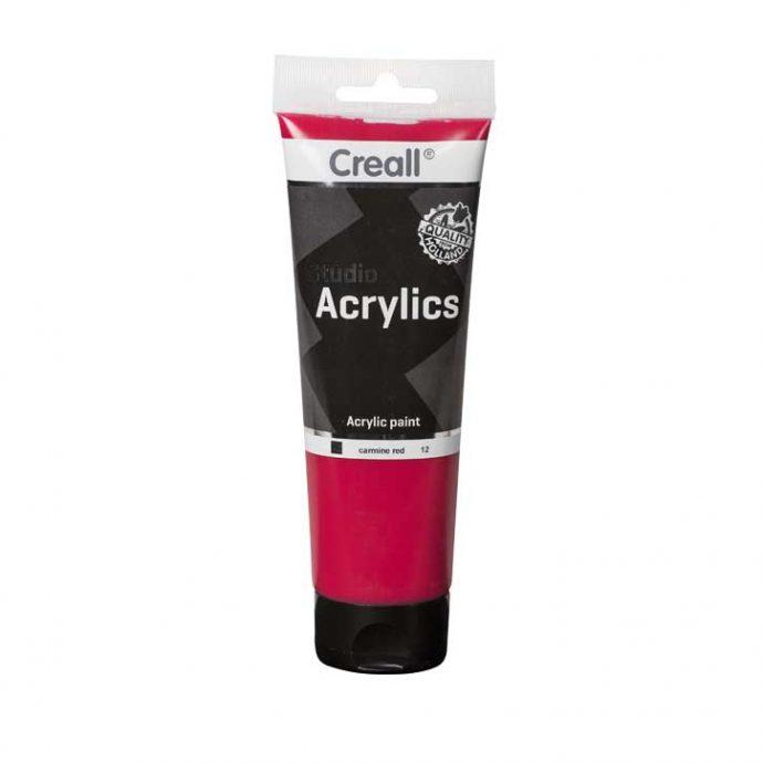 Aκρυλικό Χρώμα Ζωγραφικής Creall Studio carmine red 120ml