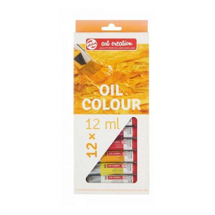 Oil Colour Χρώμα Ζωγραφικής 12 τεμάχια